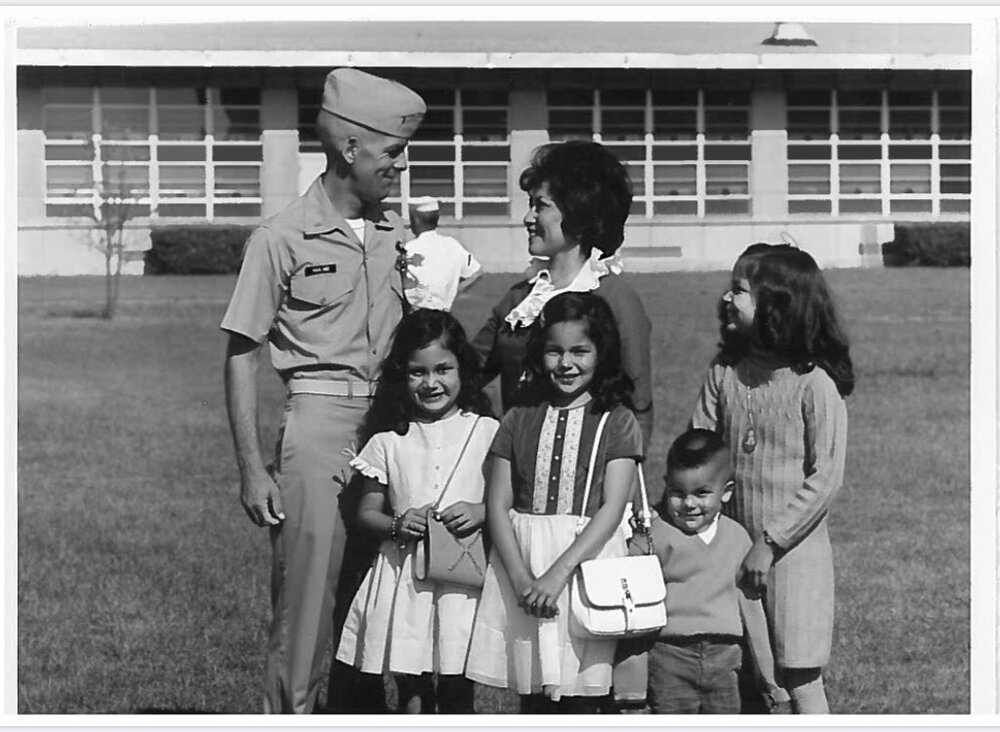 Deb Haaland and her siblings with her parents. (Twitter)