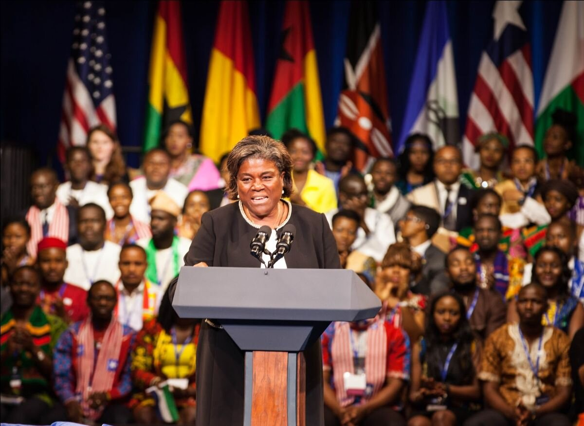 Linda Thomas-Greenfield in Africa, 2016. [Credit: The Bureau of Educational and Cultural Affairs (ECA) of the U.S. Department of State]