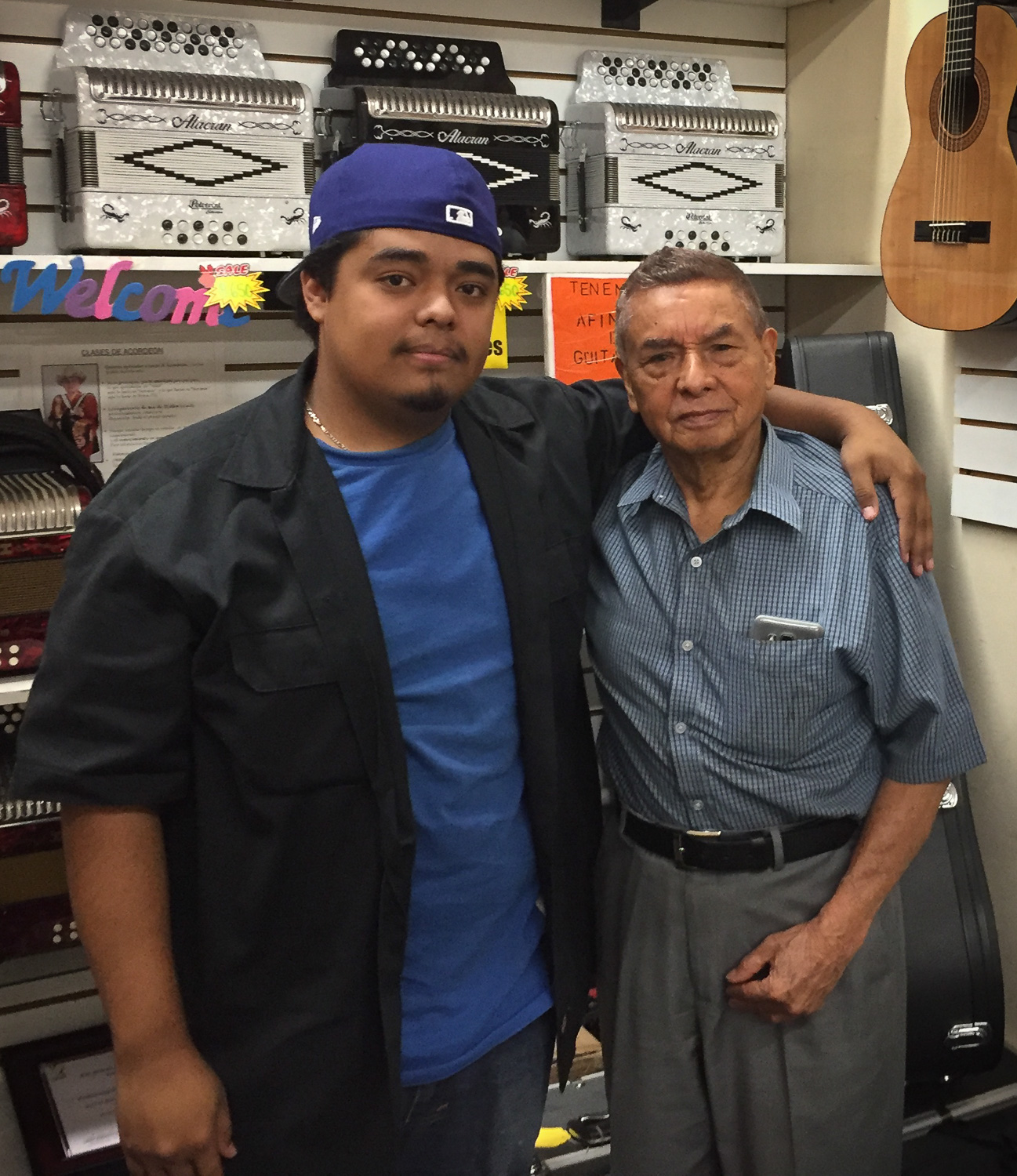 Dylan and Lucho Campillo at Taller Campillo in Anaheim