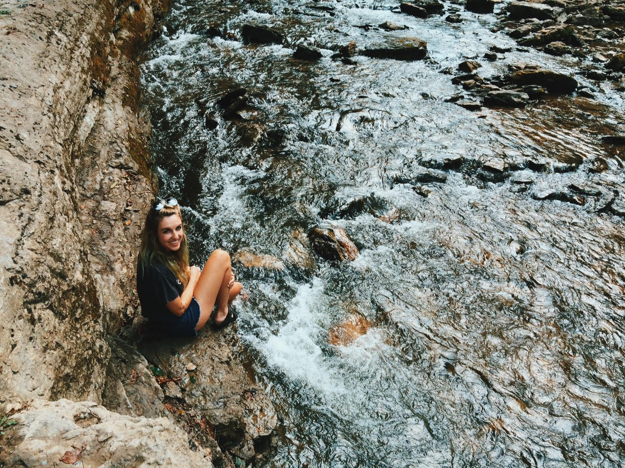 Me! At Cummins Fall, outside of Nashville, TN