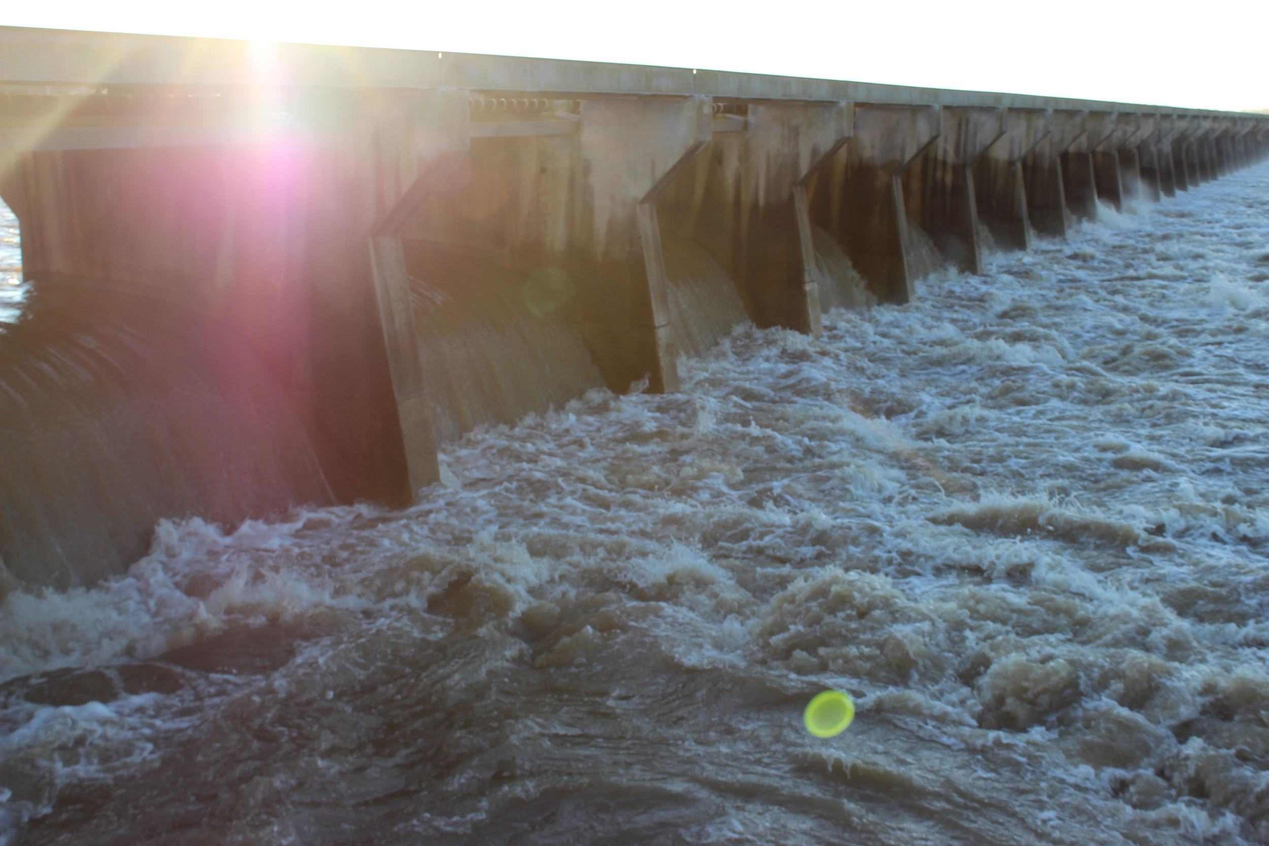 """This photo taken on the edge of the Spillway as the water rushed through included a quote caption: """"An awaken heart is like a sky that pours light."""" Adventurous and dreamy, I hope!"""