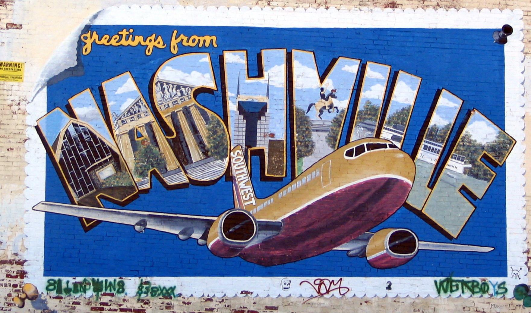 Nashville mural: ouiwegirl.com