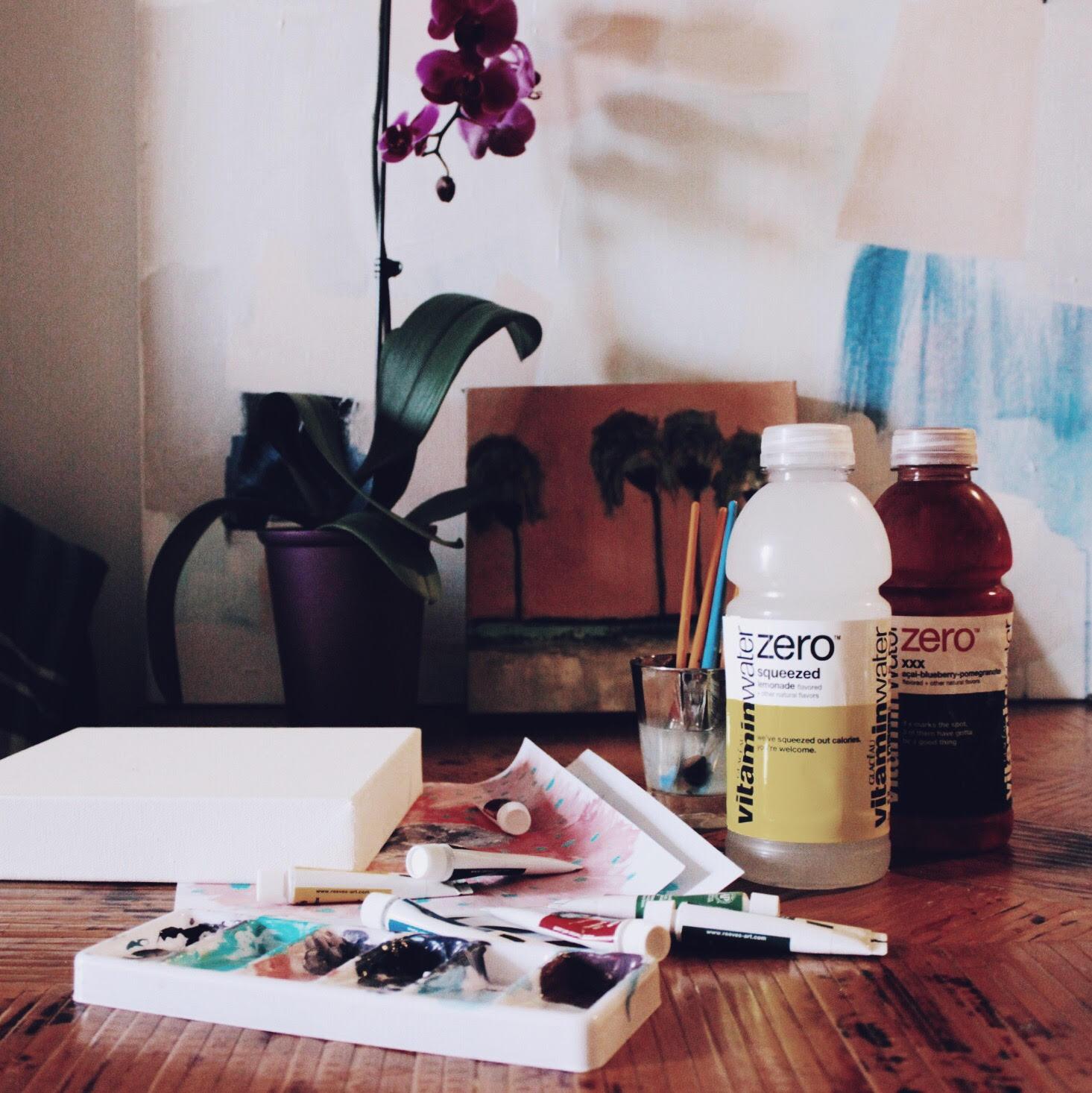 Lauren's art project - I love color coordinated hydration.
