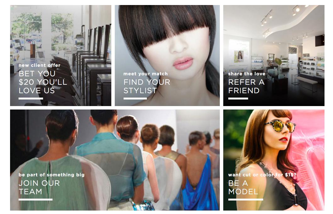 Paris Parker Salons & Spas website