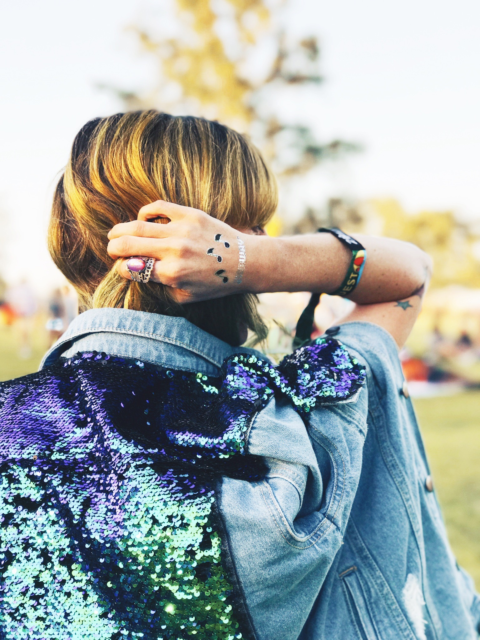 Sequin Jacket Sunset
