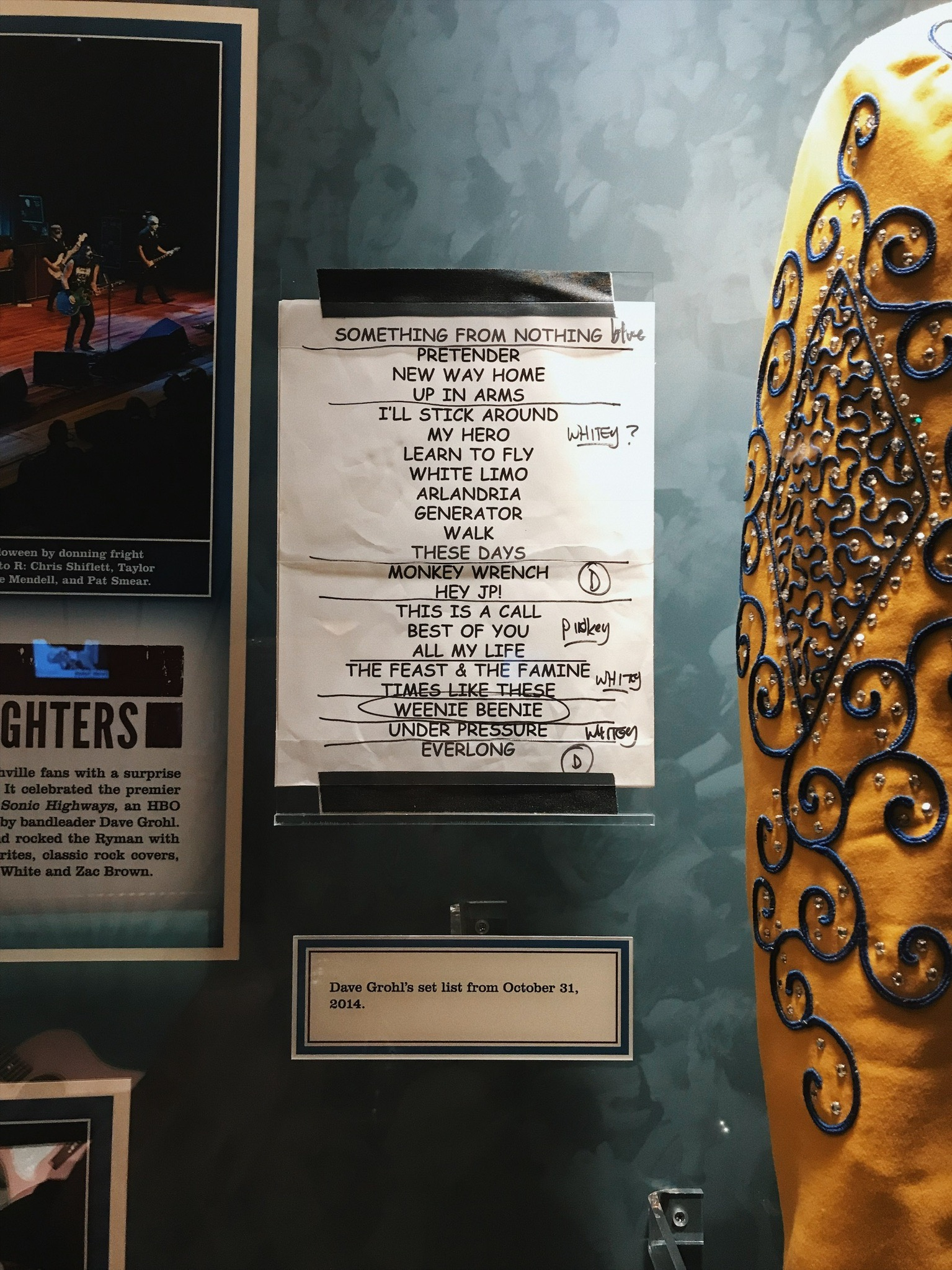 Foo Fighters Set list | Oui We Girl