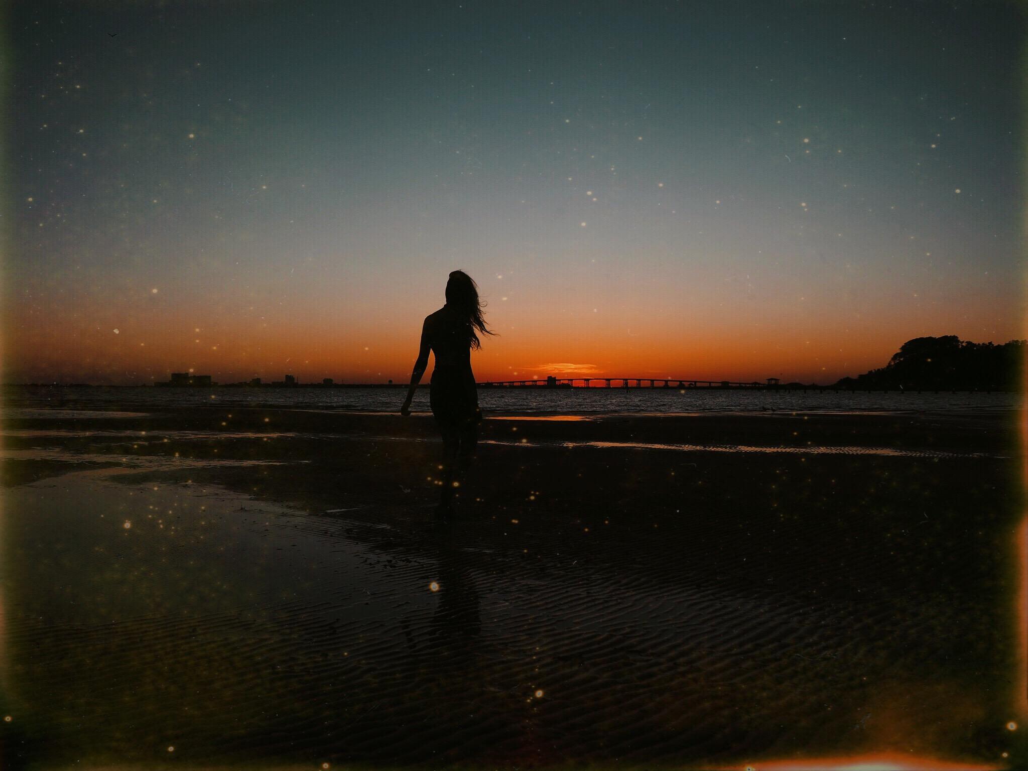 Sunset at Weeks Bayou   Oui We