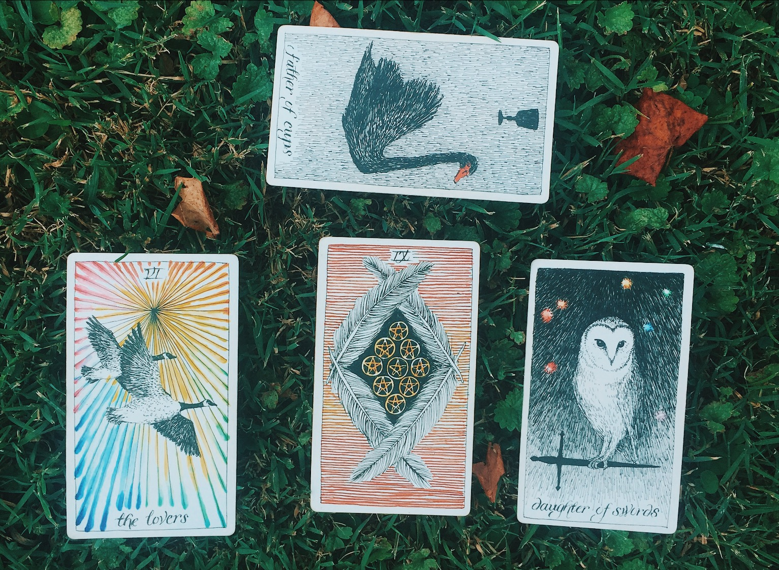 Oui We Tarot spread august