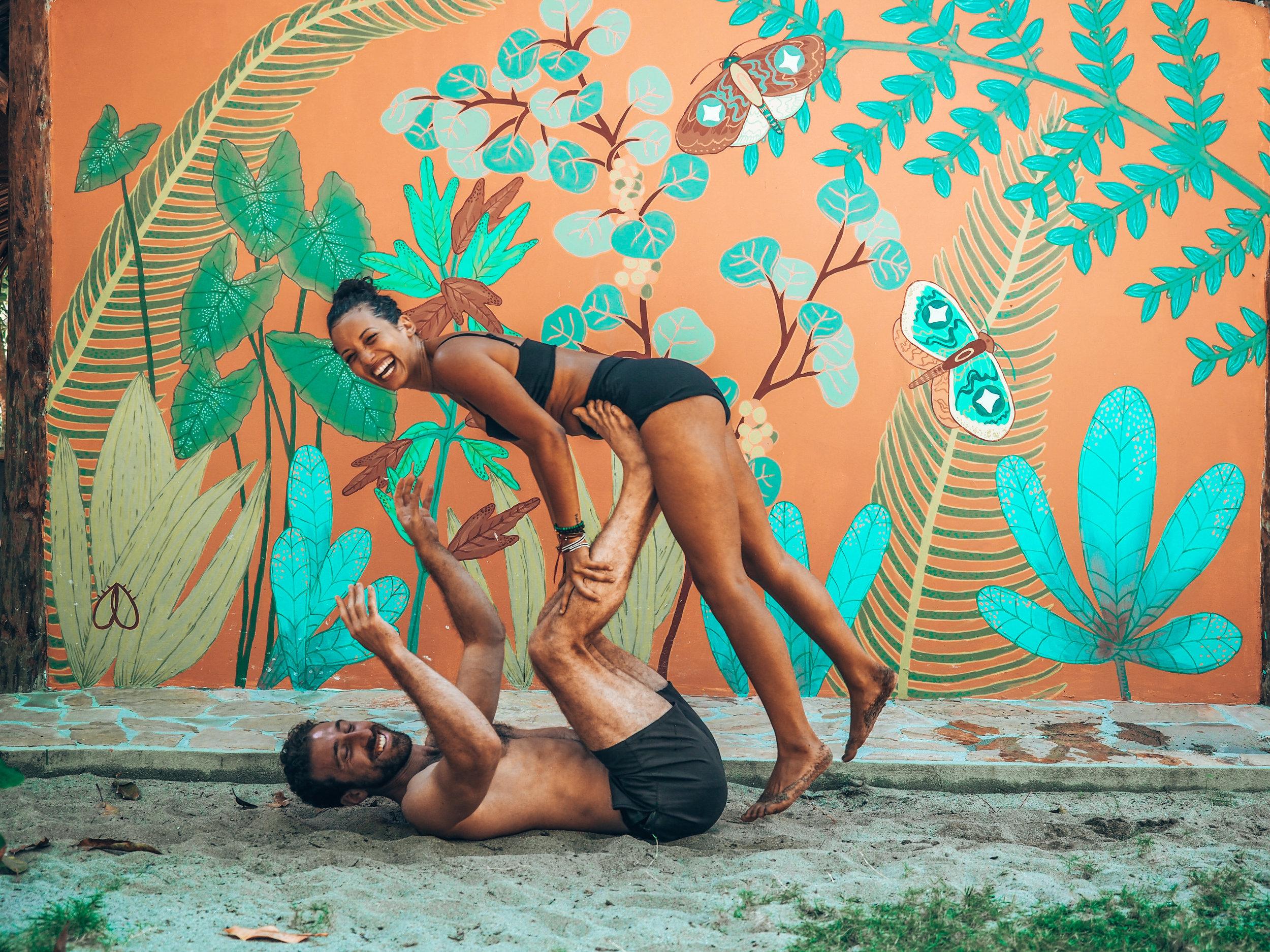 yoga retreat couples yoga acro yoga eco travel