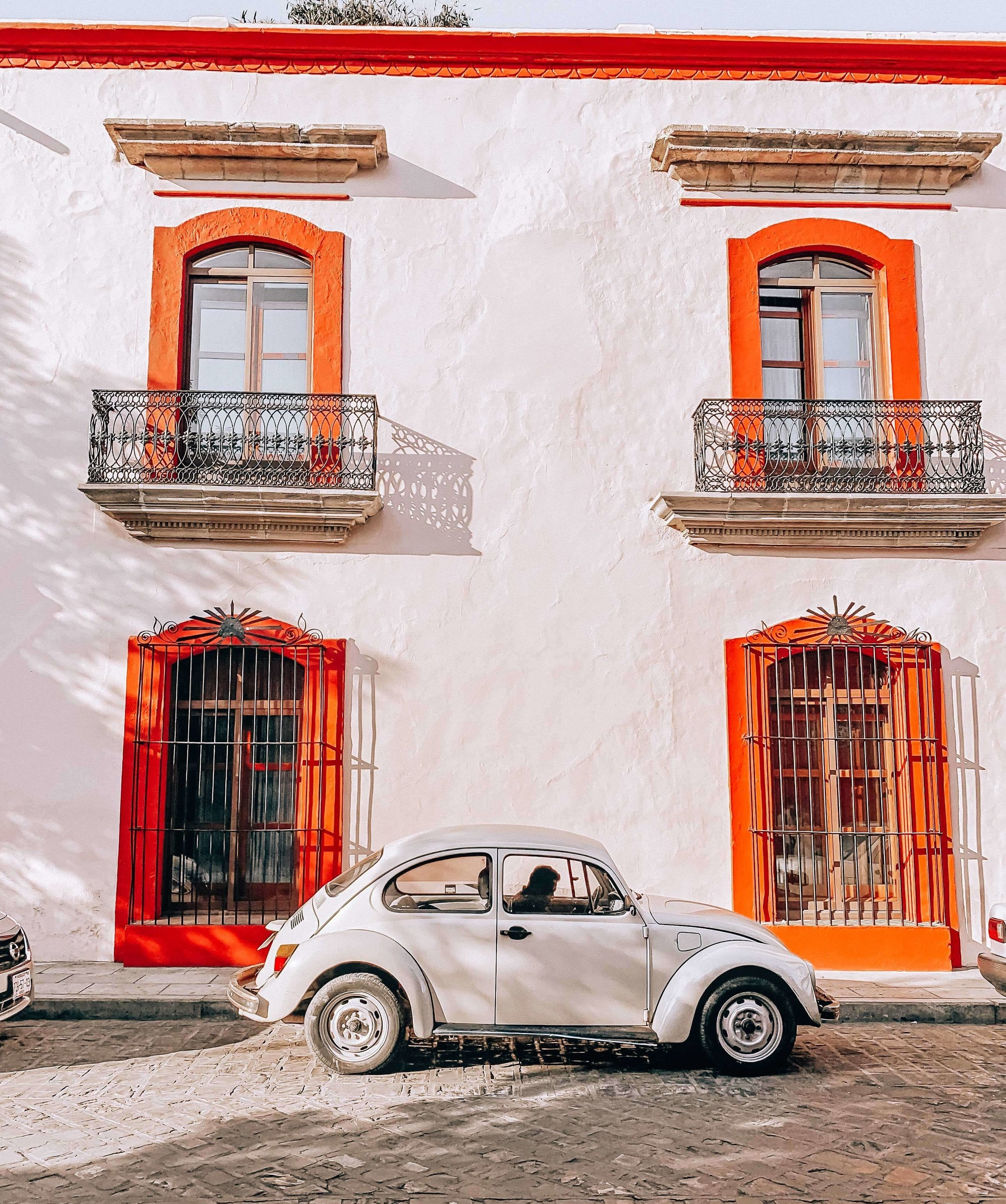 classic cars, colors of travel, oaxaca mexico