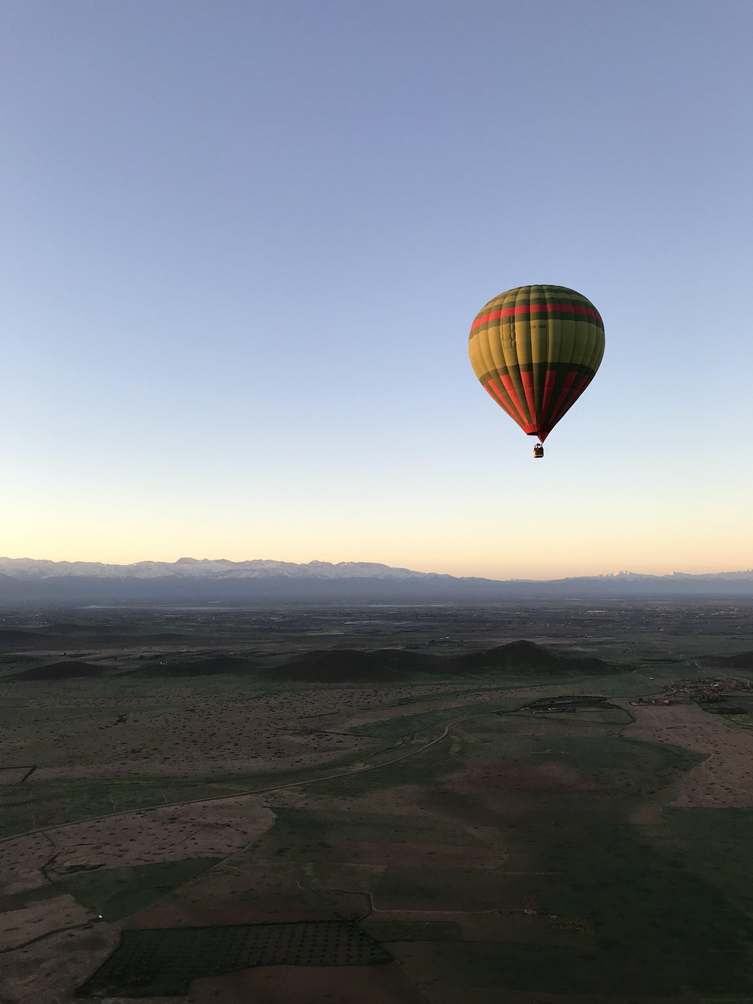 Solo Travel Morocco: Marrakesh Hot Air Balloon