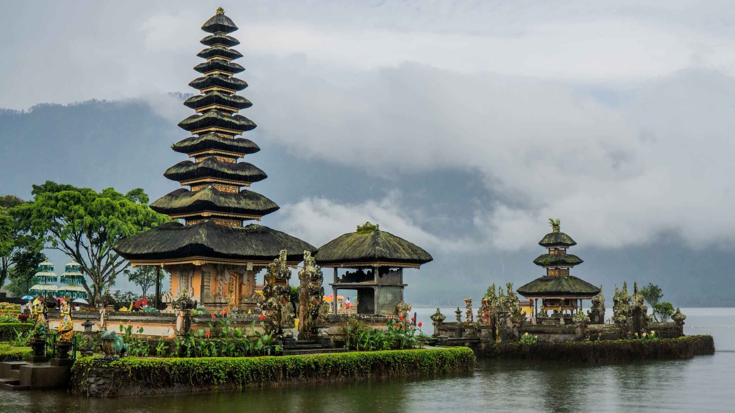 Ulun Danu Beratan Temple, Indonesia   Ulun Danu Beratan Temple in northern Bali