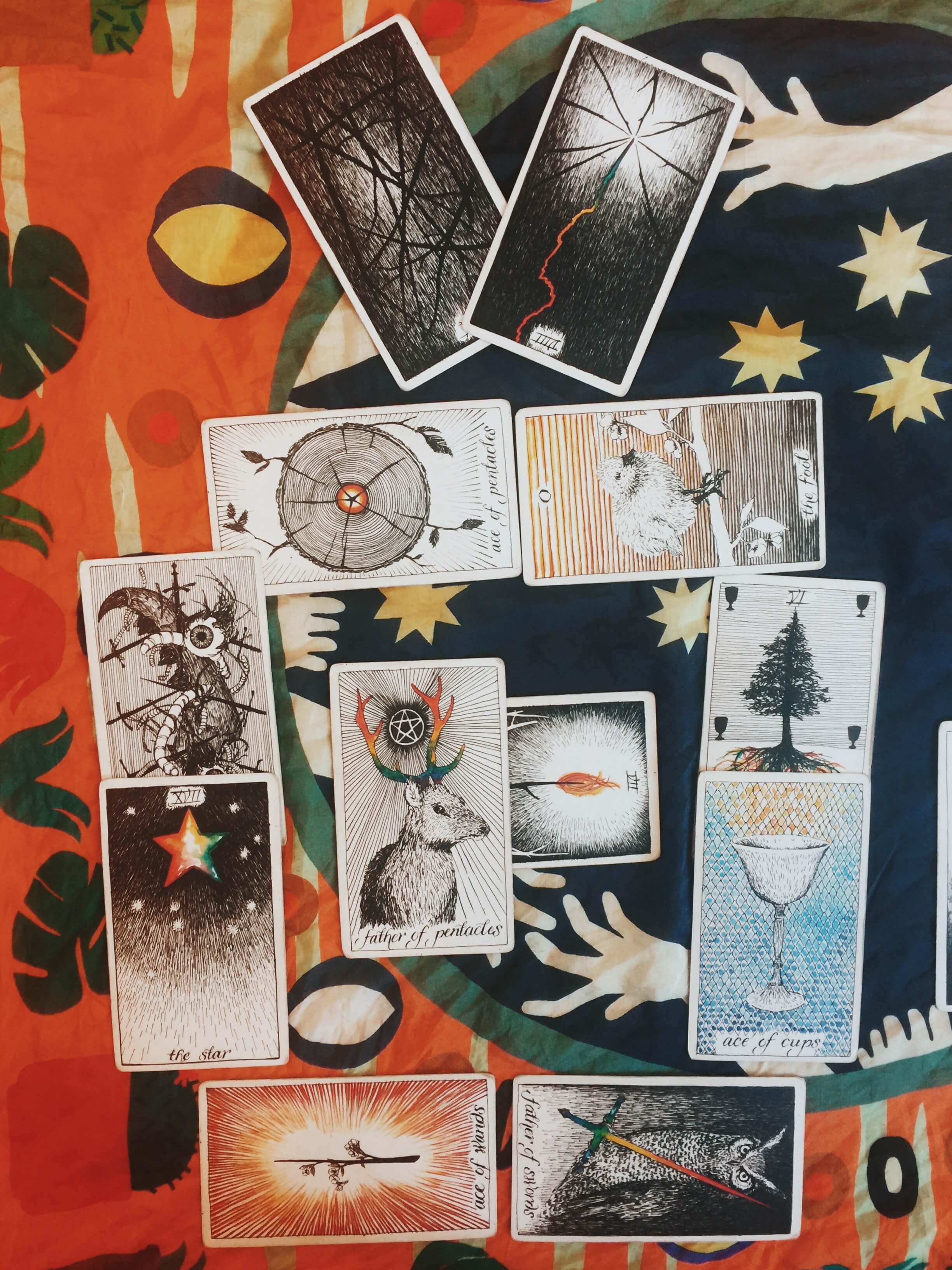 new moon tarot reading, wild unknown tarot deck