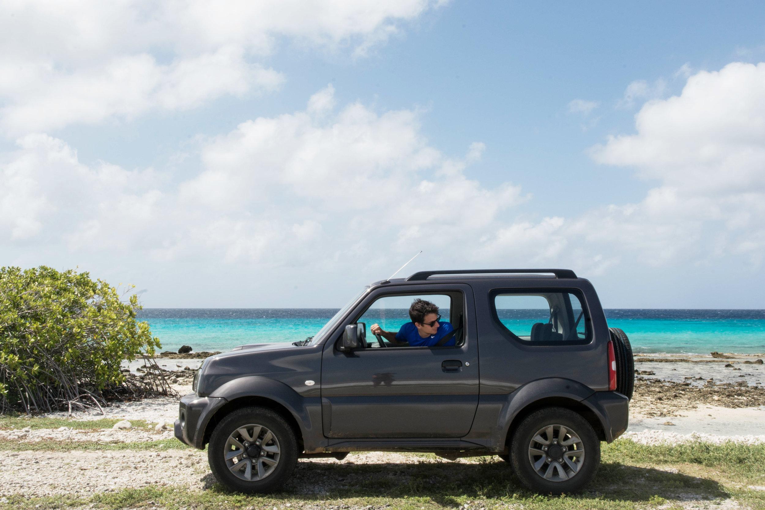 Driving on Bonaire