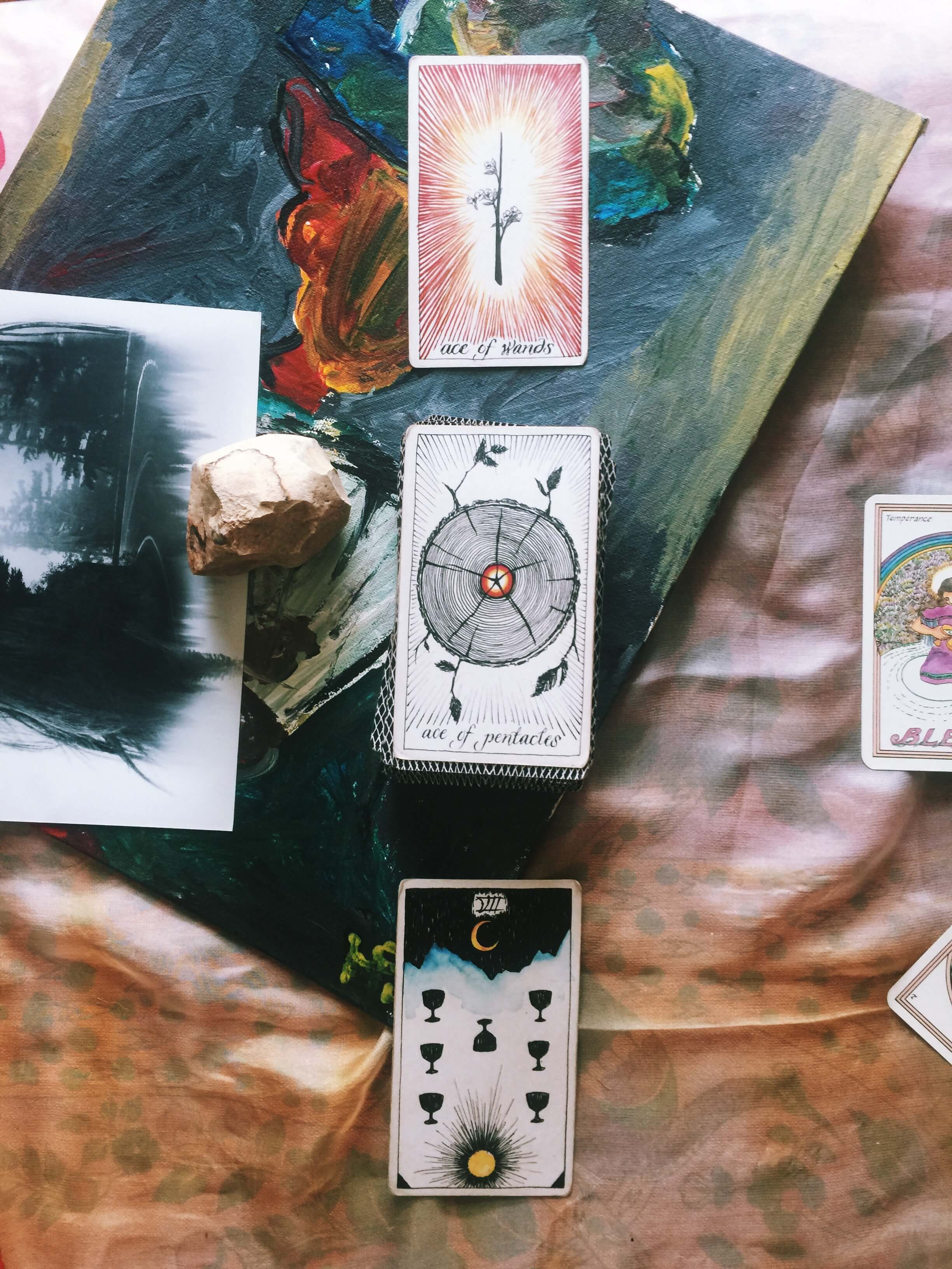 Wild Unknown Tarot Deck: Ace of Pentacles & Ace of Wands