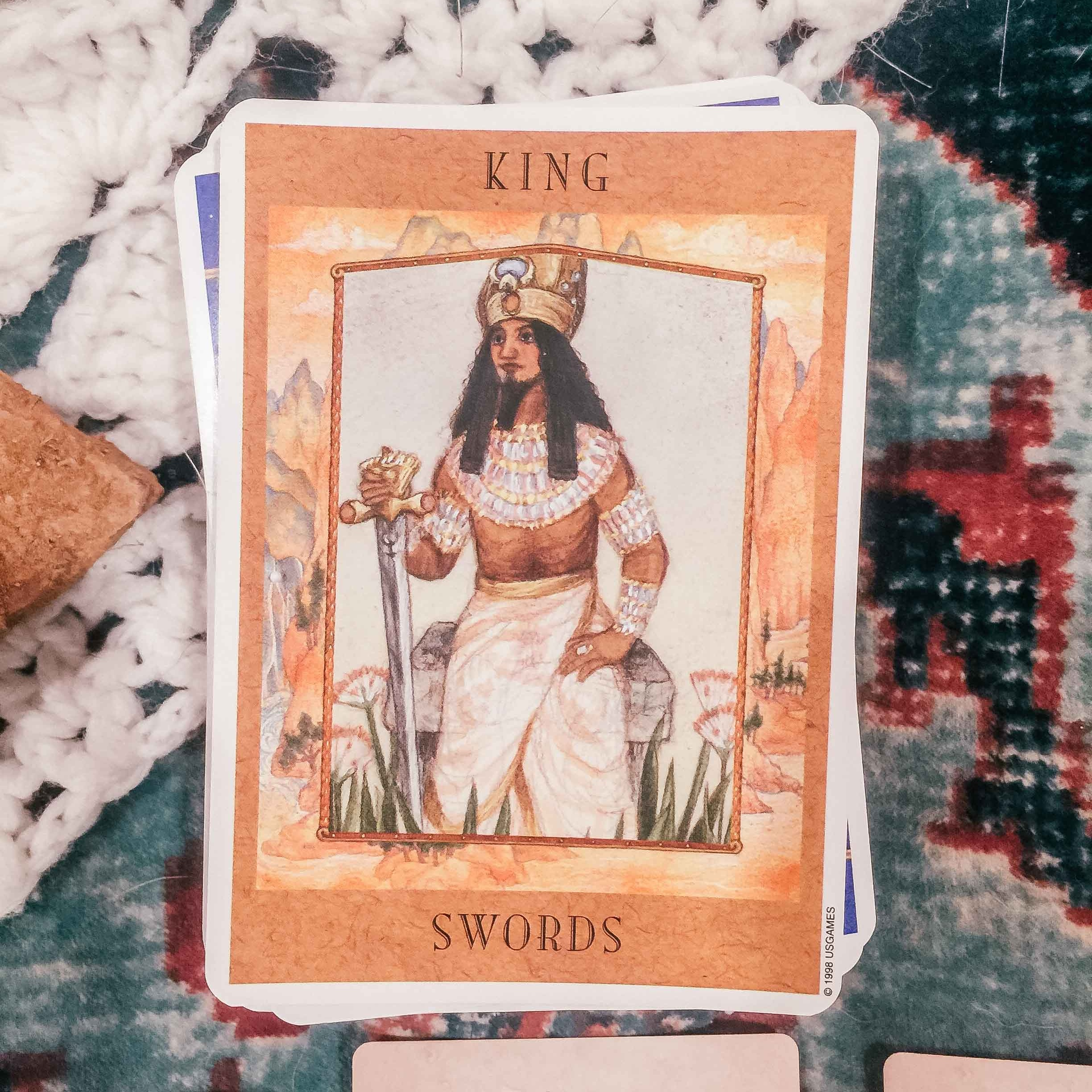 Full Moon in Aquarius Tarotscope // King of Swords
