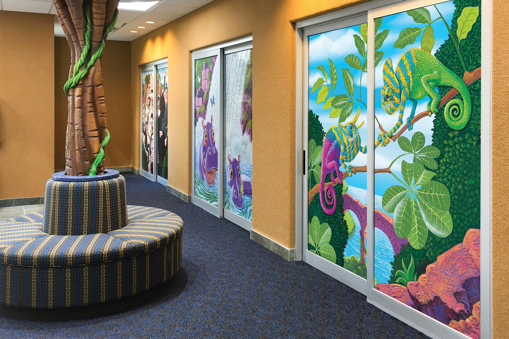 Custom Designed Patient Room Door Murals