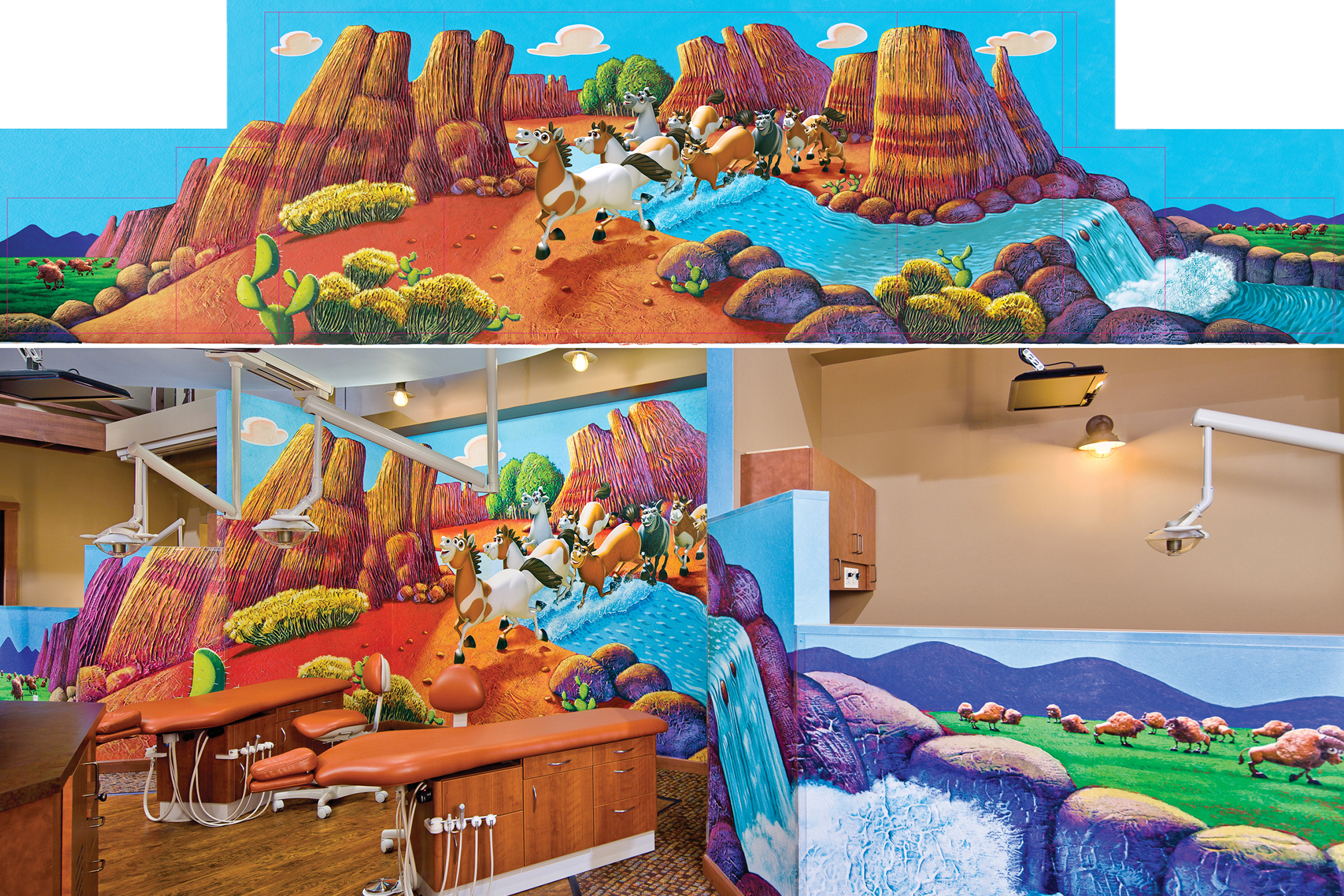 Entire Western Themed Treatment Room Mural