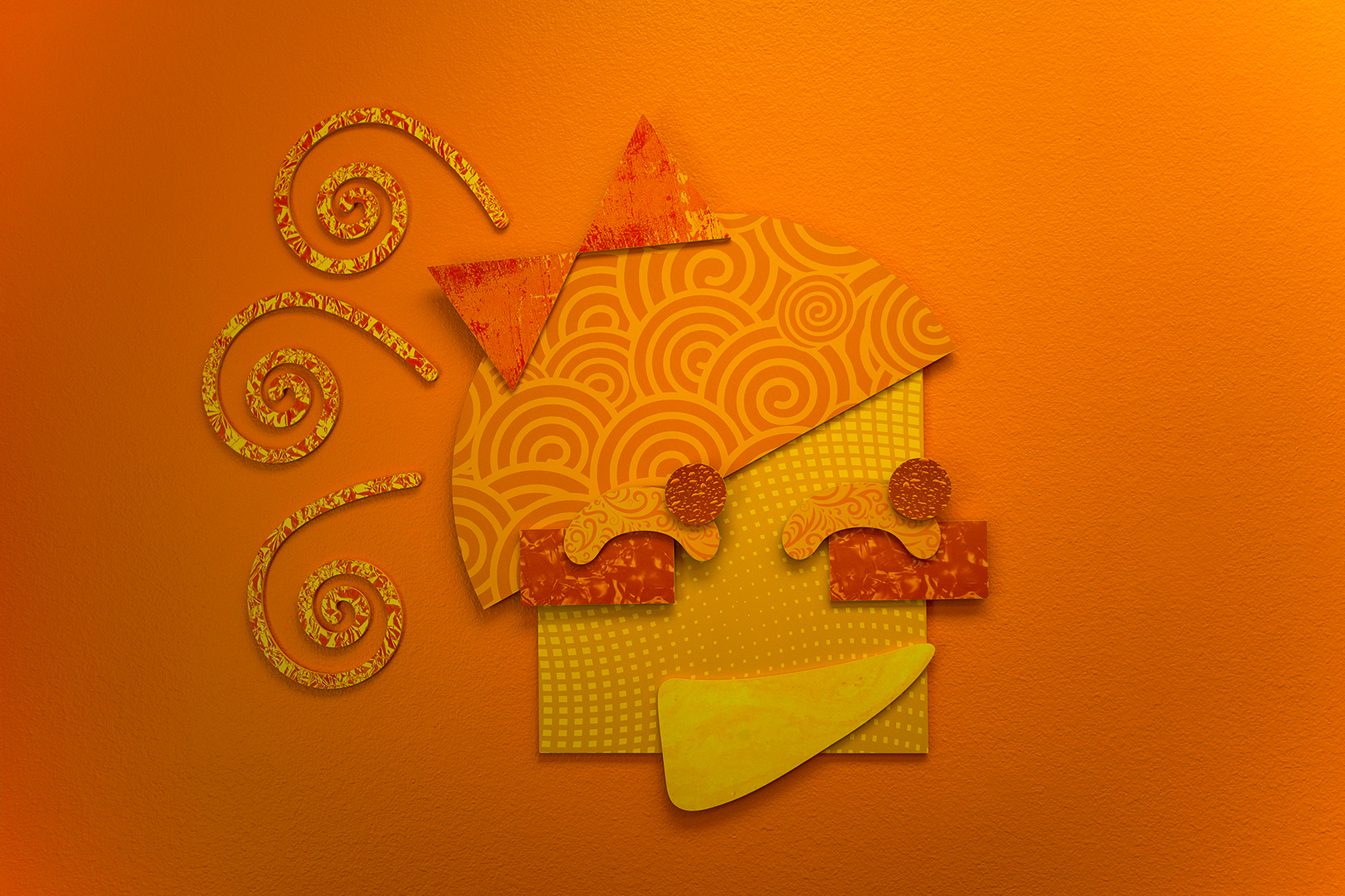 Engaging 3D Relief Girl Themed Wall Art