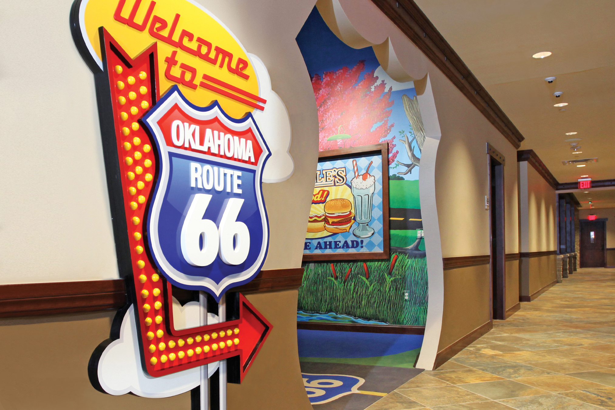 Hallway Themed Entrance At OK Kids Korral in Oklahoma, City, OK.