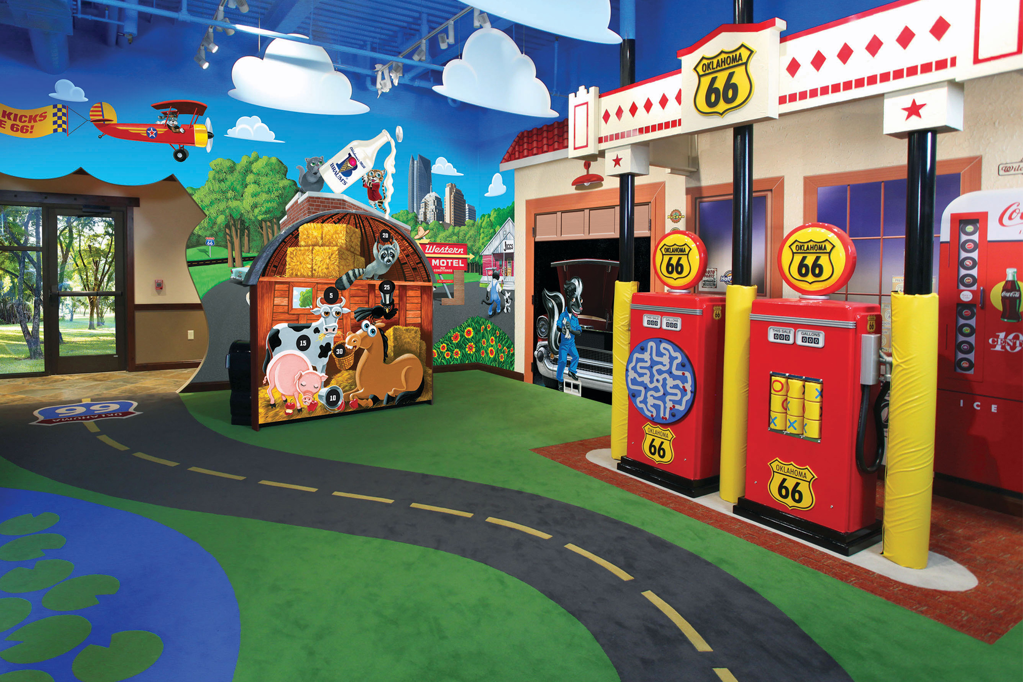 Interior Room of the Oklahoma Route 66 Themed Play Room