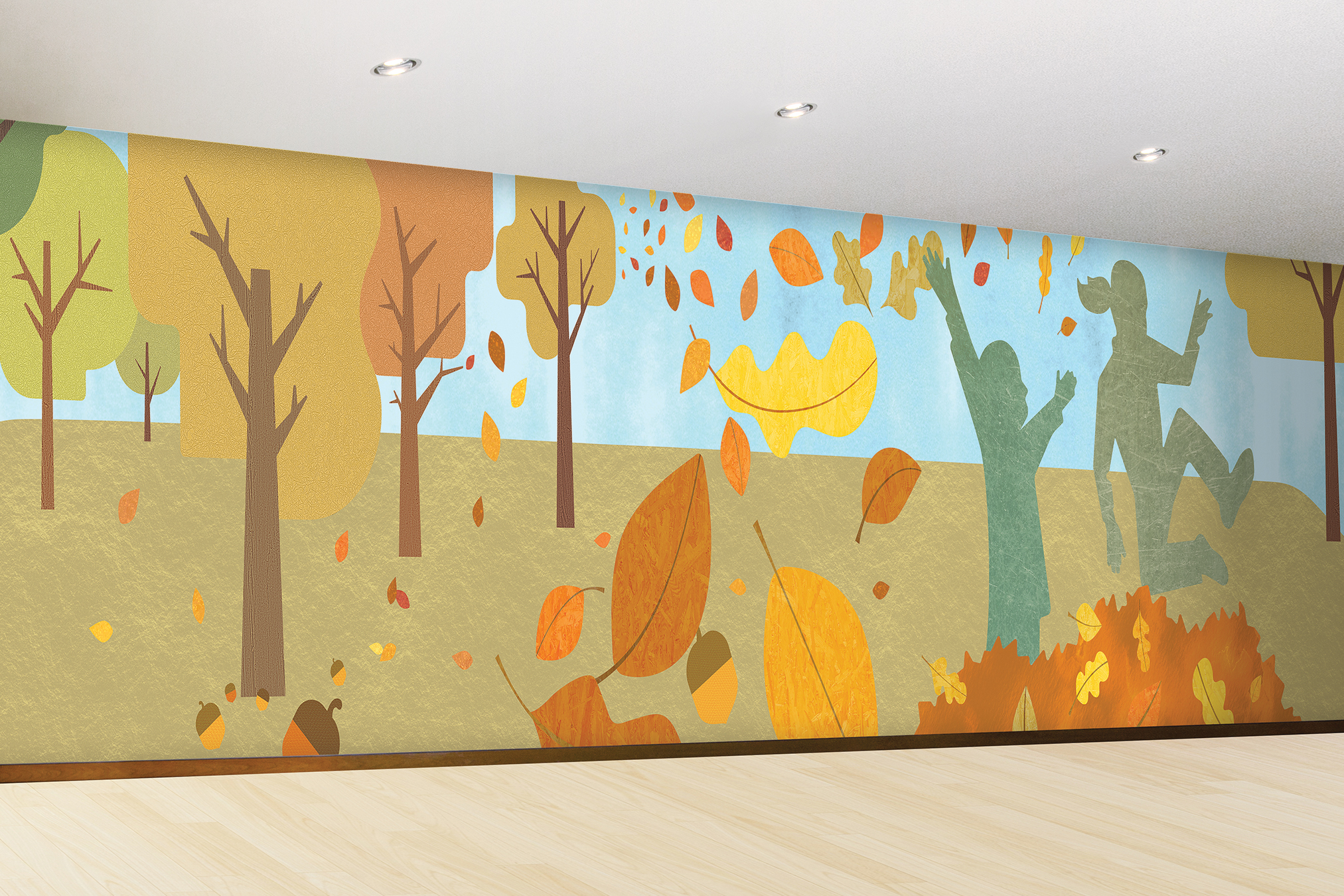 Giant Corridor Wall Mural For Non-Profit Client