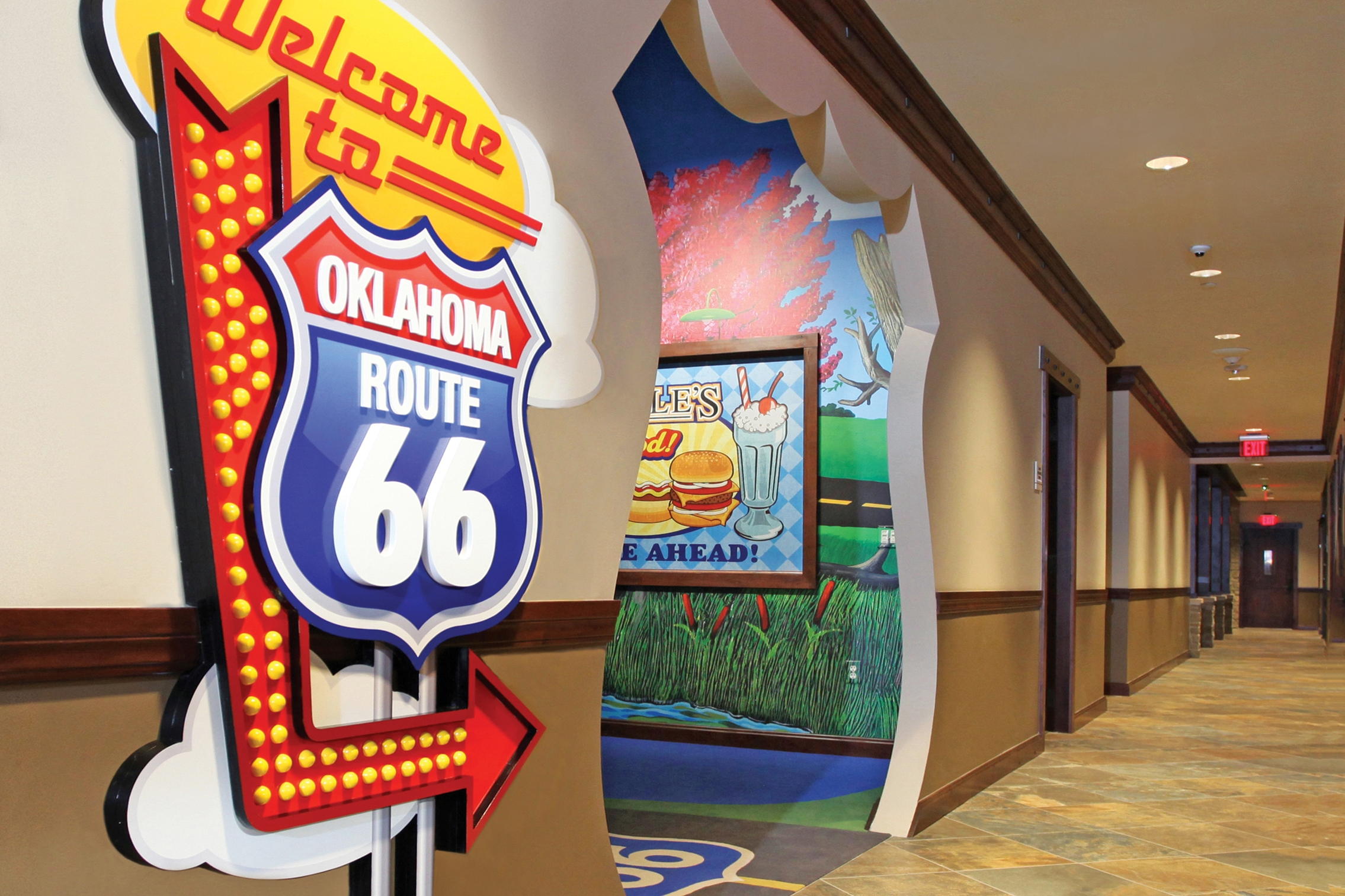 Fun Engaging Hall Entrance To Toby Keith's OK Korral Playroom