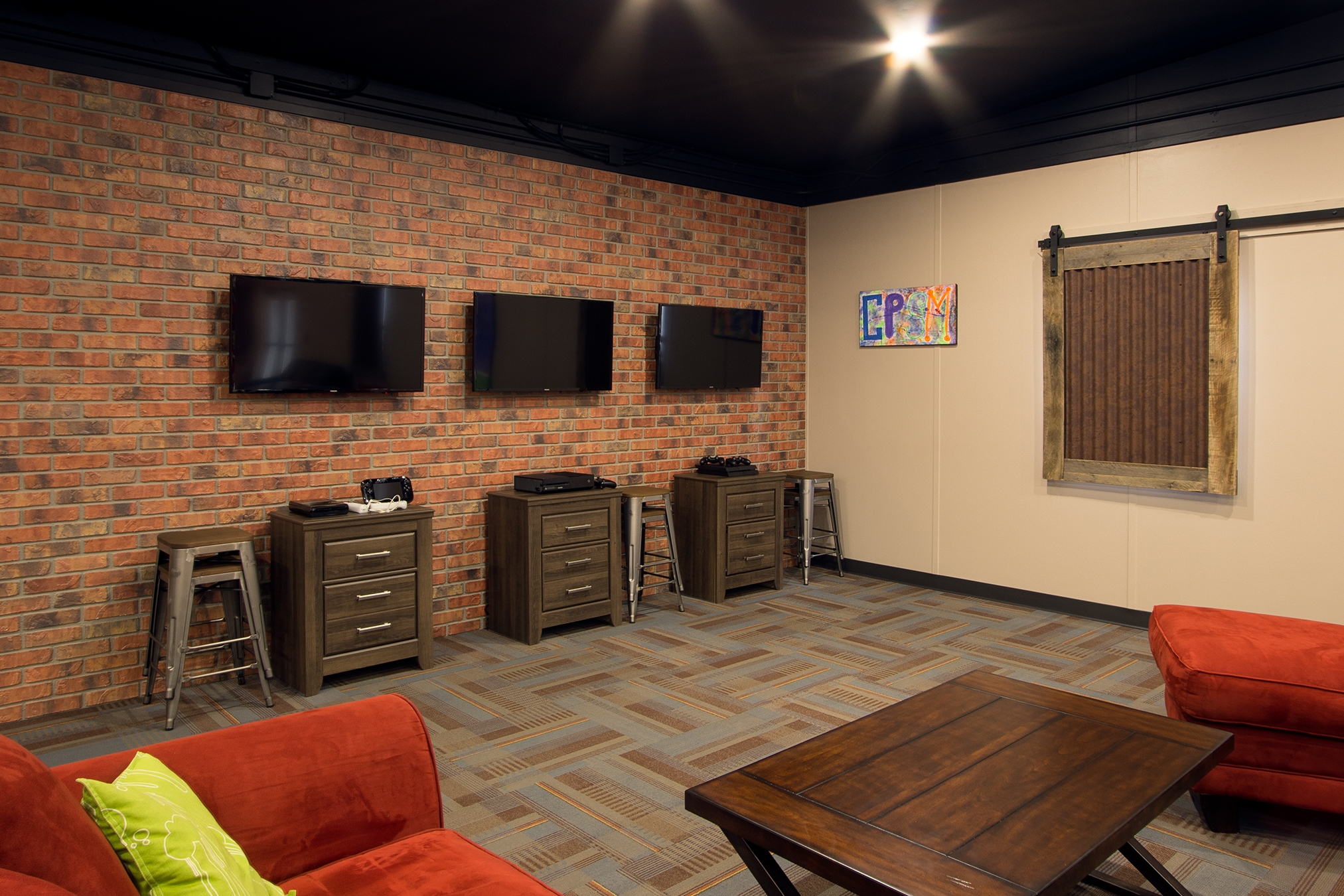 Custom Designed Youth Ministry Gaming Themed Area