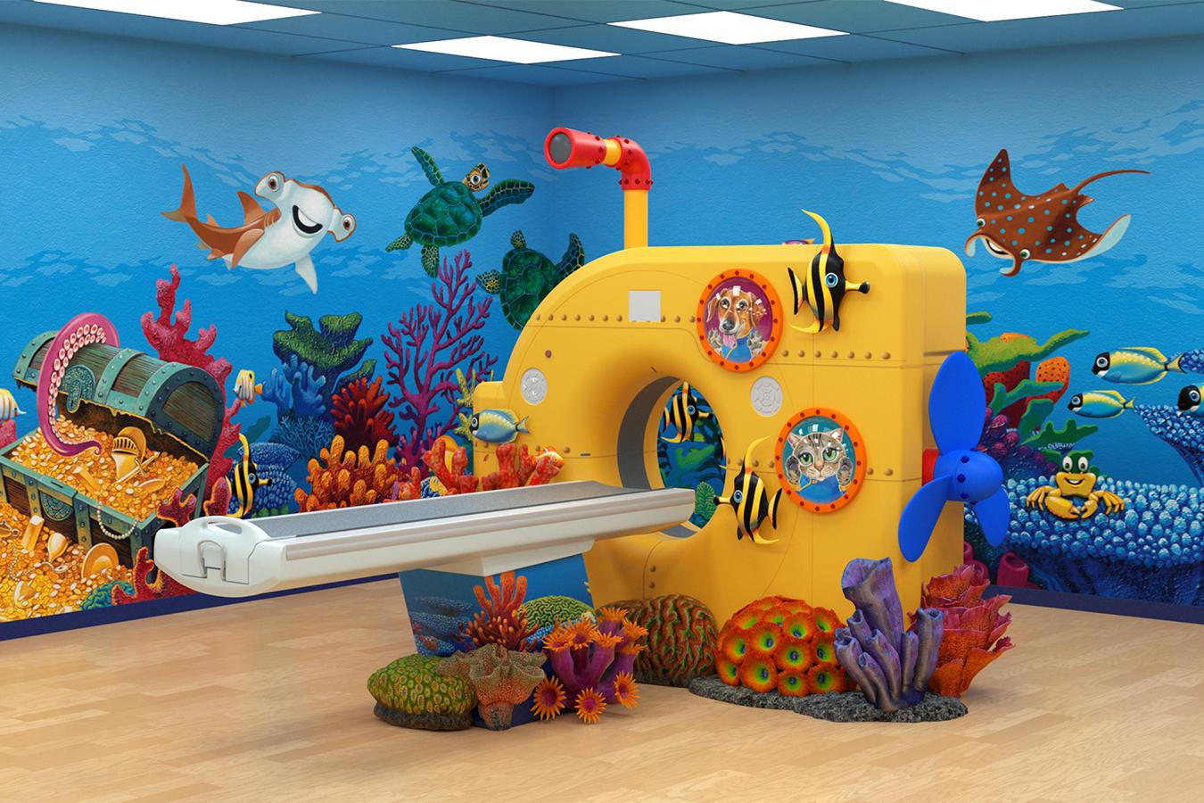 Underwater Theme with Yellow Submarine MRI Facade