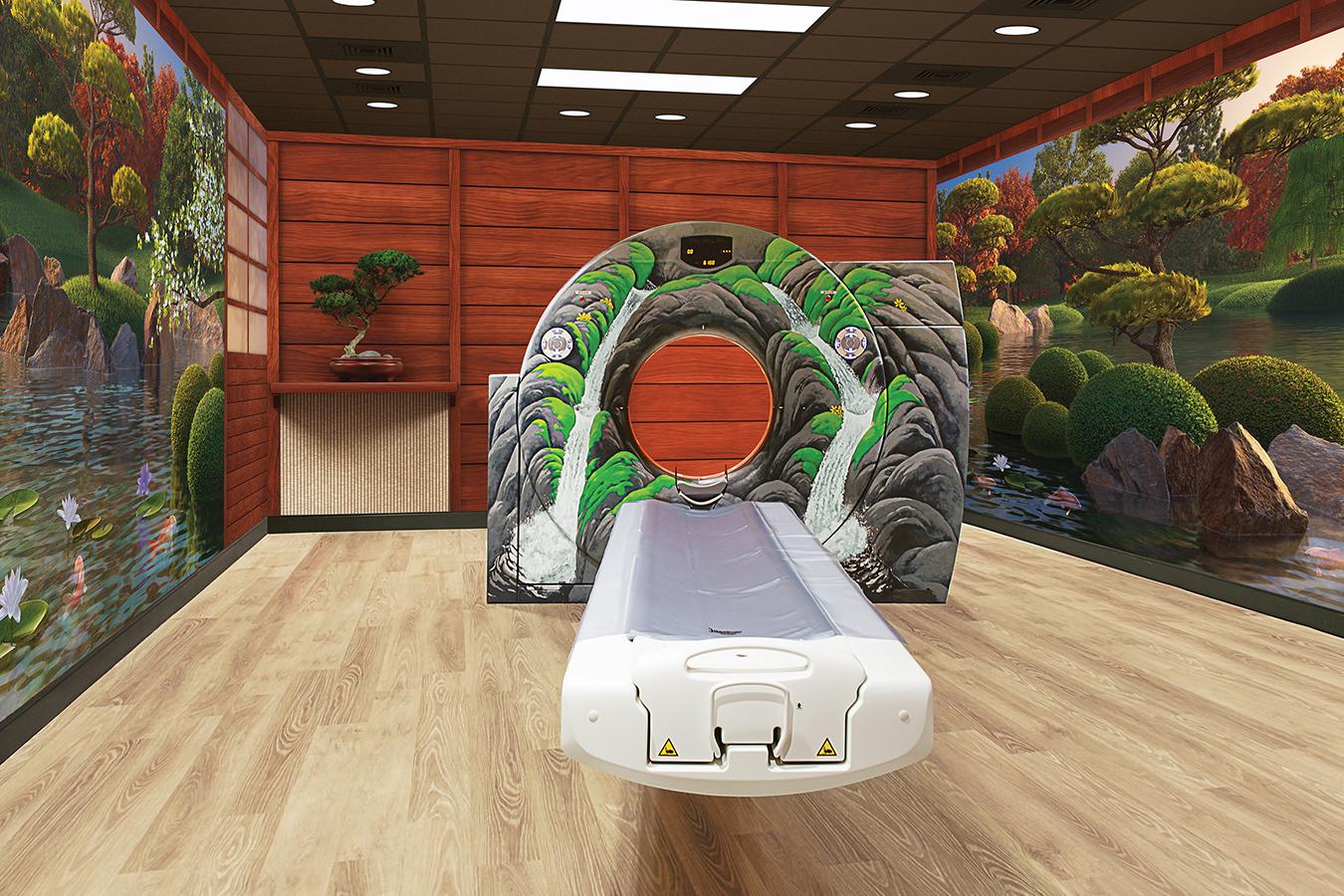 Zen Water Garden Themed CT Room