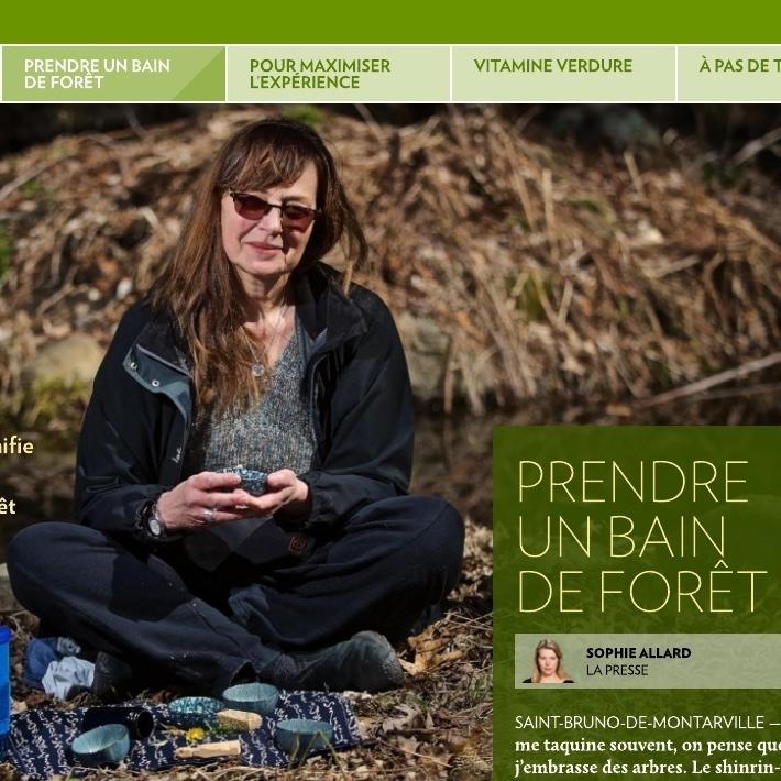 Actualité - La forêt thérapeutique fait les manchettes.