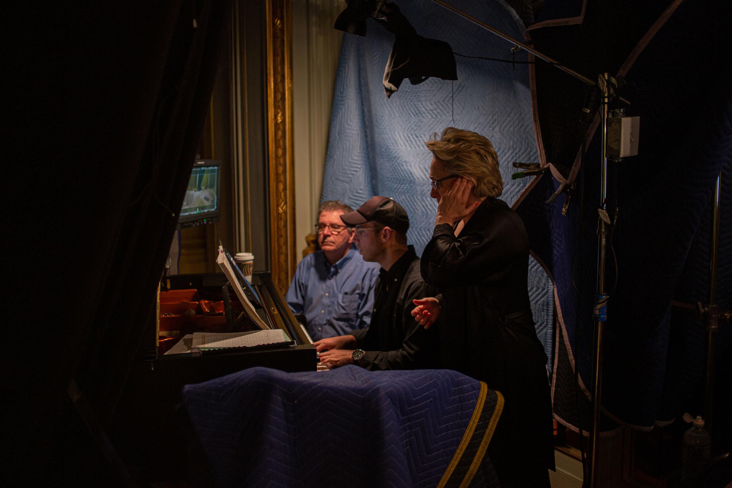 Filming La voix humaine