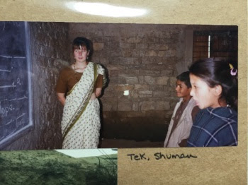 Me, as a teacher about 100 years ago in Nepal.