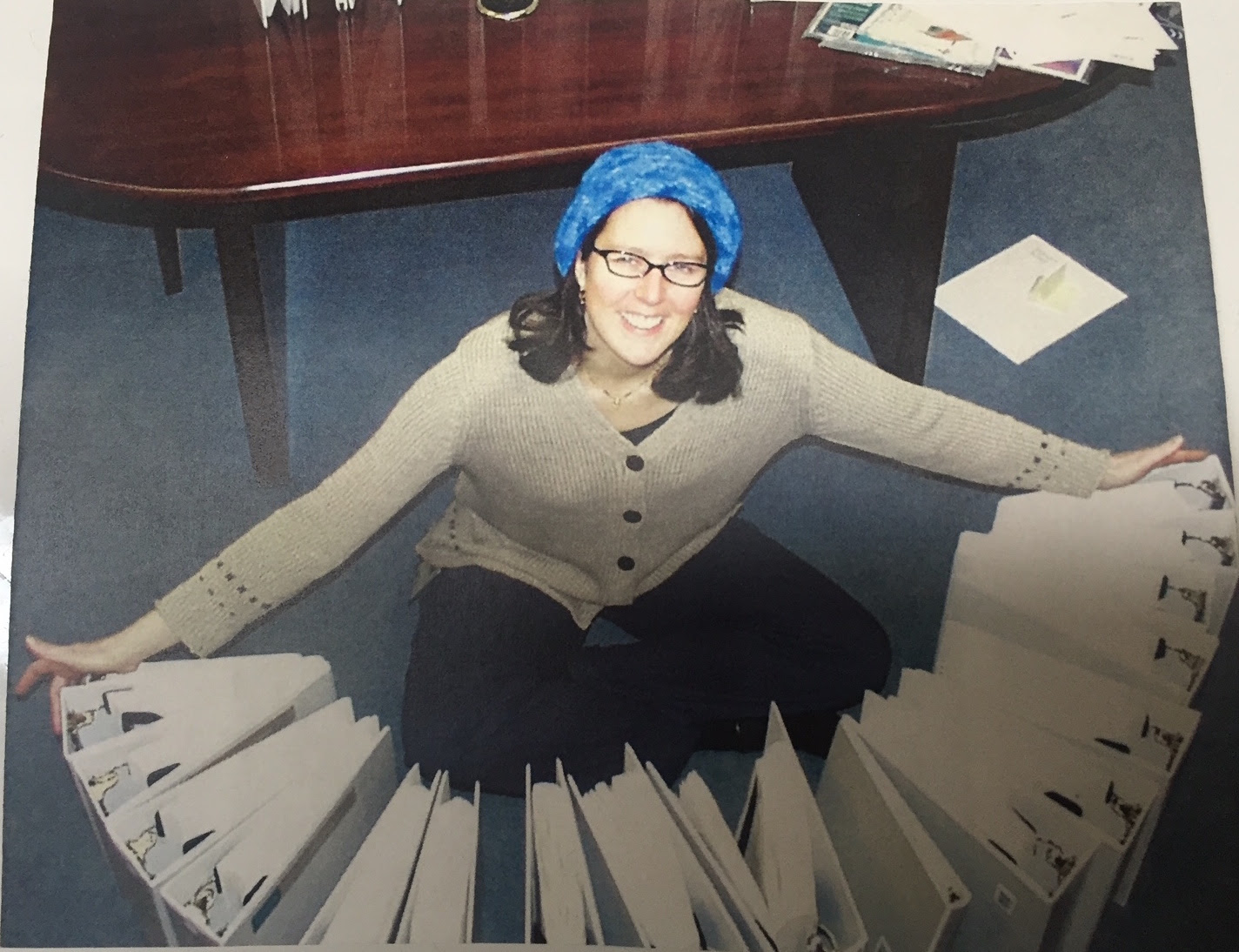 Ahhh…corporate glory days. (Crazy hat day courtesy of the wonderful Michele Chin-Purcell.)