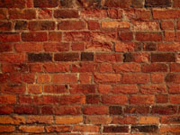 The wall looked something like this.