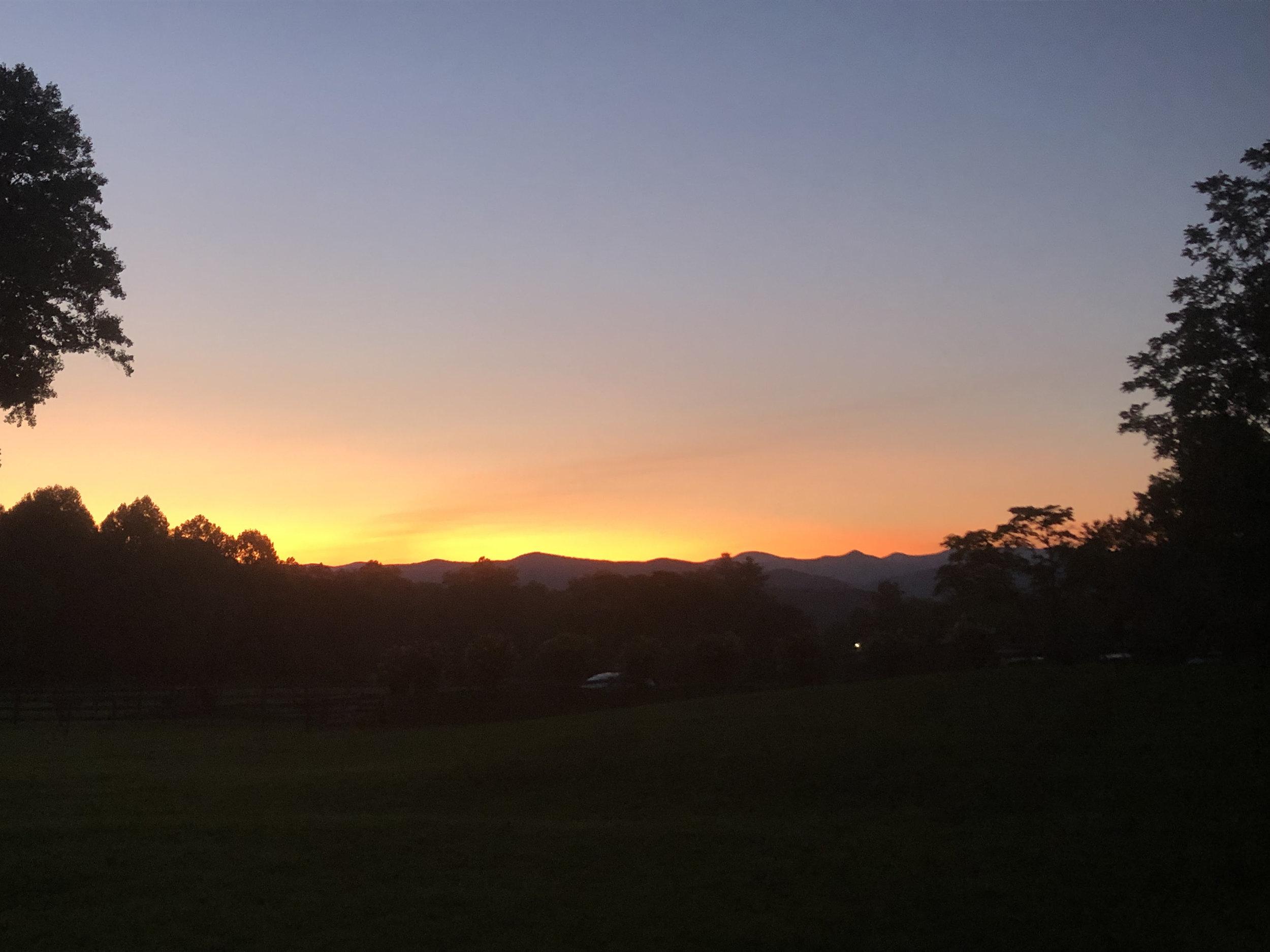 Gwynn Valley at sunset