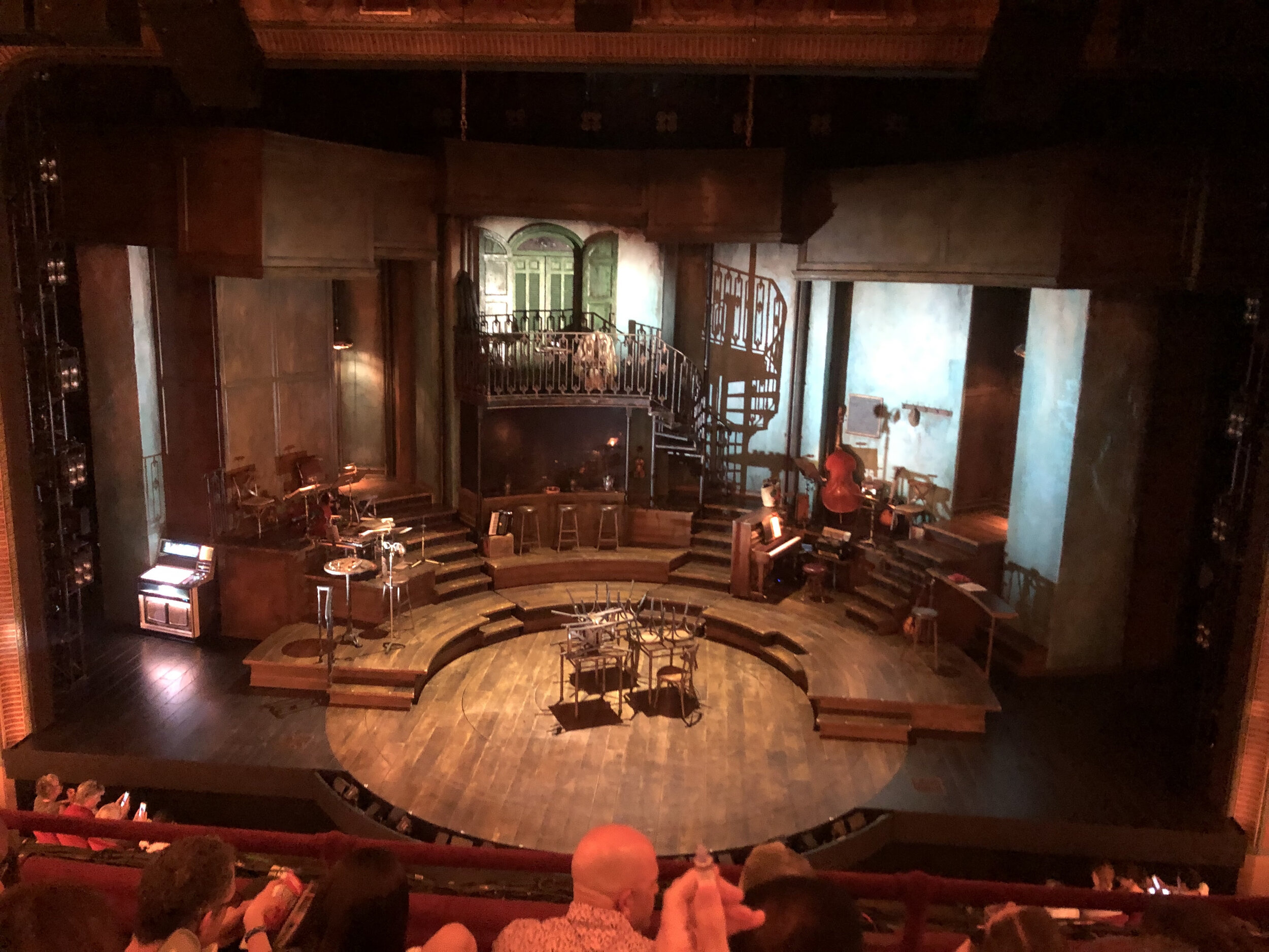 The stage at Hadestown