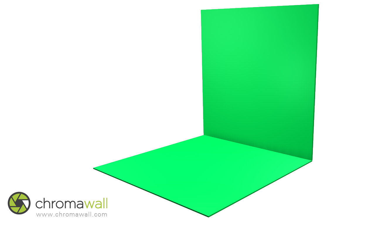 chroma key floor and wall boards