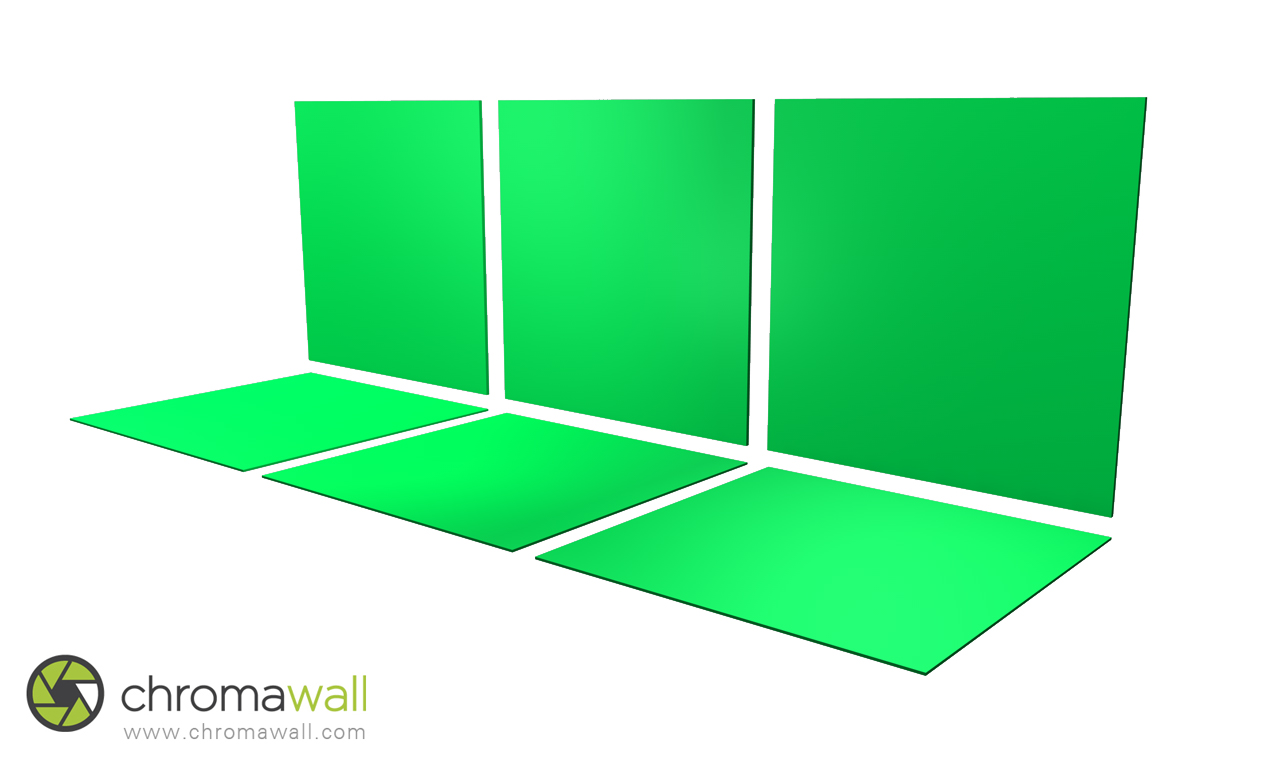 chroma key flooring and studio walls