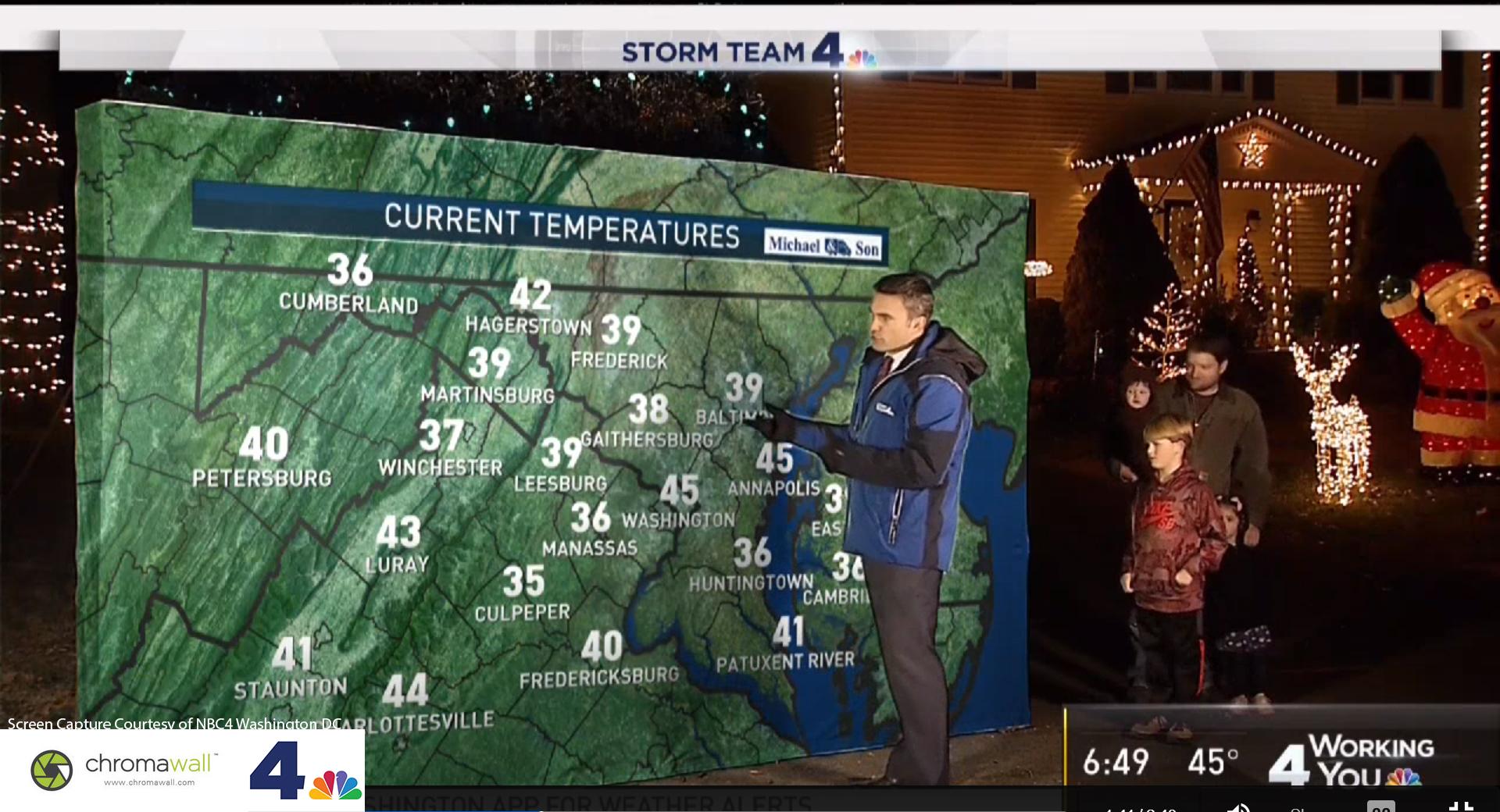 NBC 4 Weather Map Green Screen
