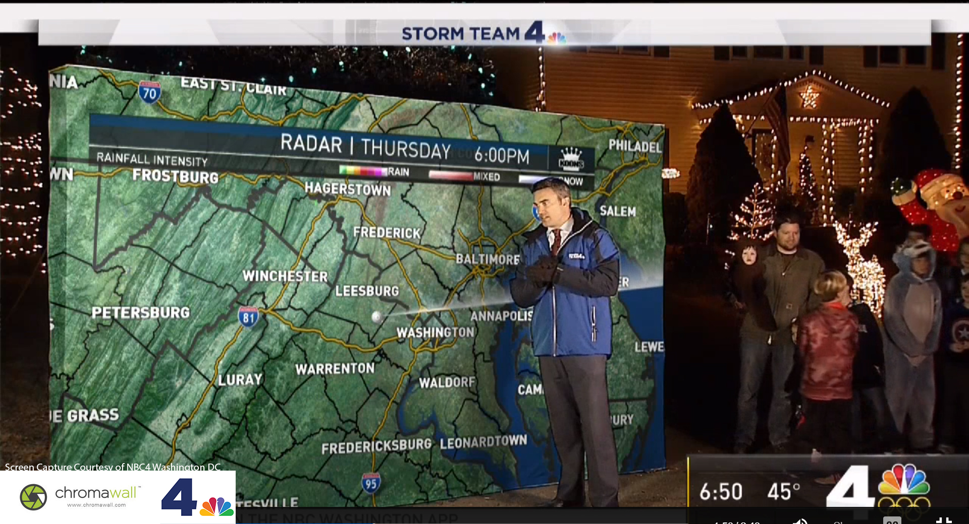 Green Screen Weather Maps