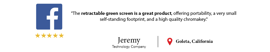 customer testimonial retractable green screen jeremy california