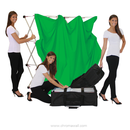 portable green screen kit by chromawall