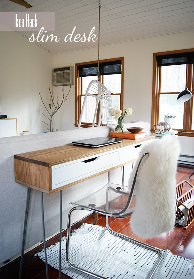 Ikea Hack Slim Desk