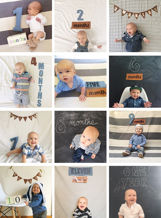 1 Year of Baby Photos
