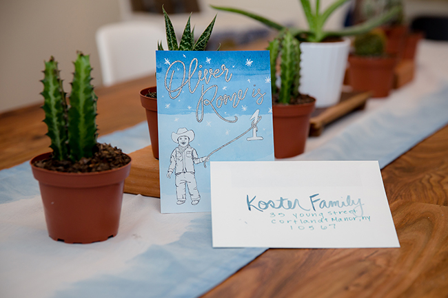 Blue Ombre Invite