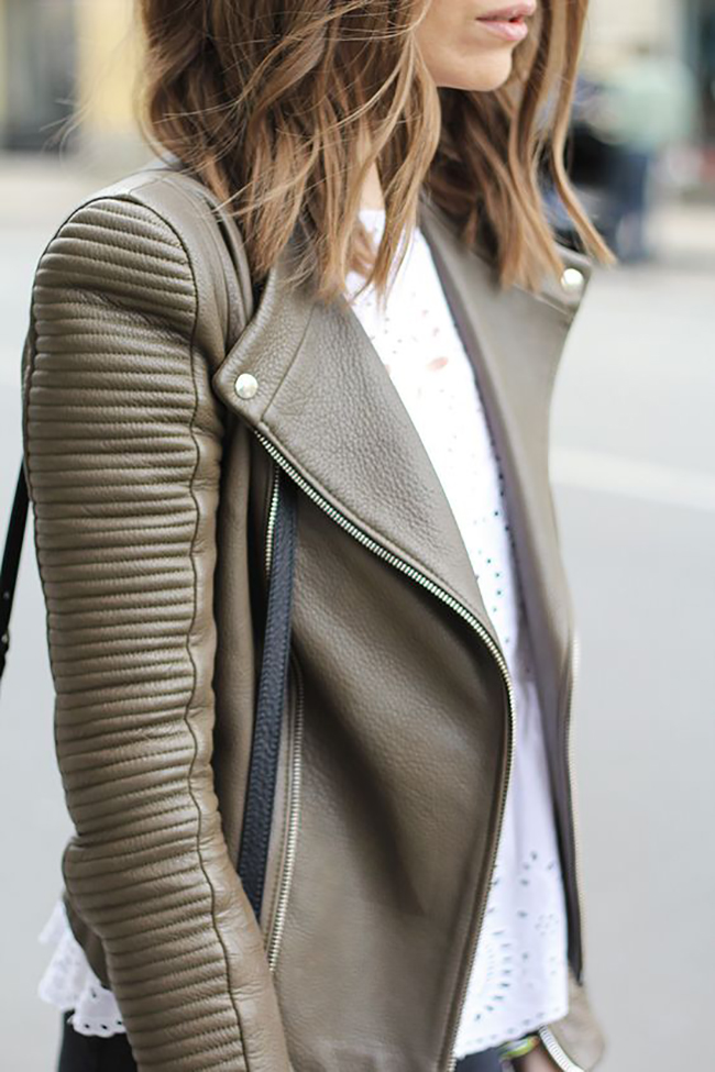 Olive Leather Jacket