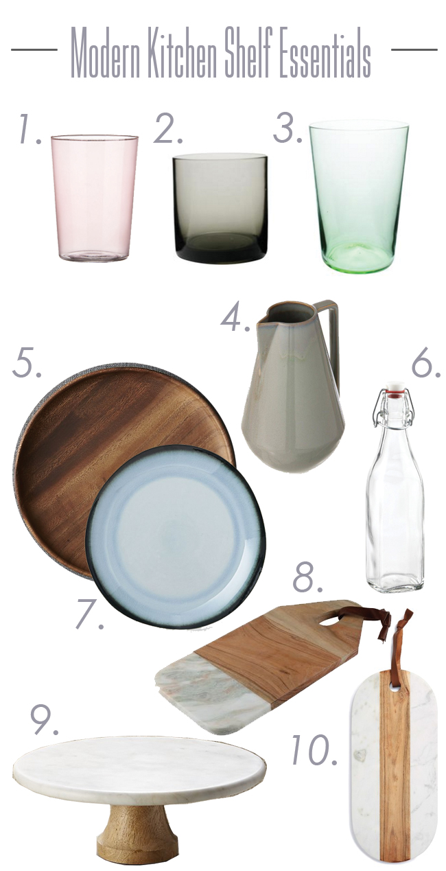 Modern Kitchen Shelf Essentials