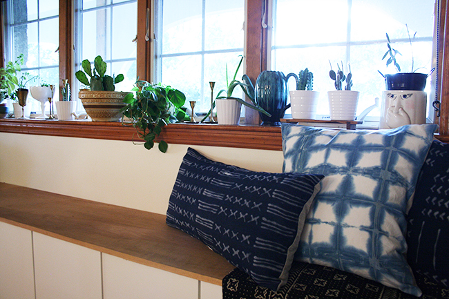 DIY Indigo Pillows