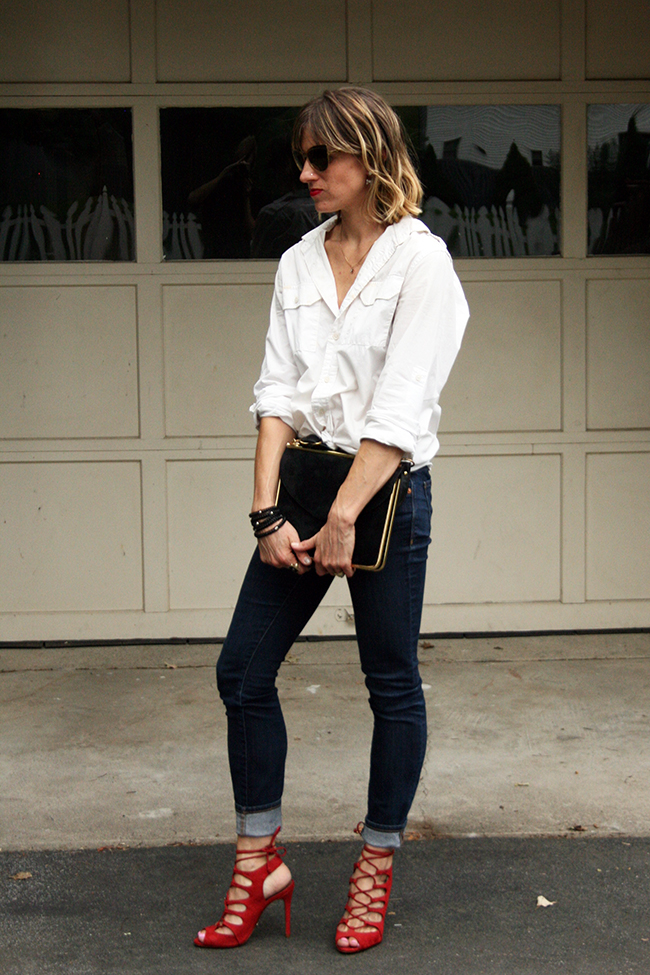 Button up and jeans for date night